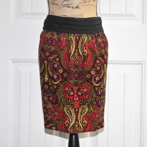 Anthropologie Cidra Skirt Size 14 Red Black
